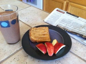 Peanut butter Toast with Shake