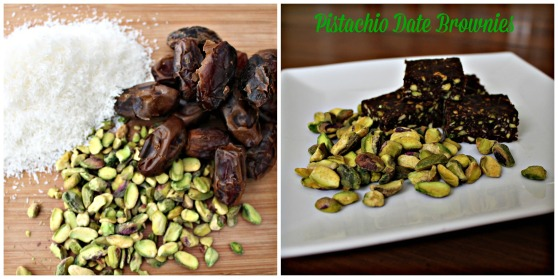 Pistachio date brownies